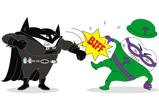 Batman Toothy vs The Riddler Toothy Battle Image