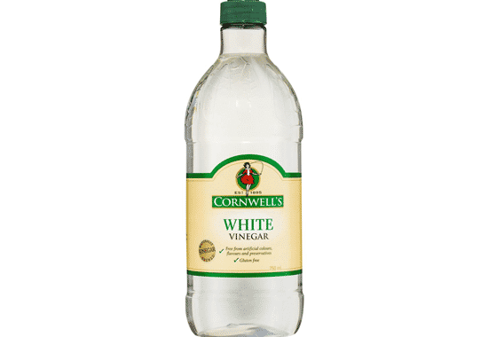 Bottle of white vinegar